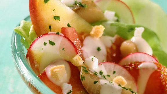Rezept: fruchtiger Fischsalat