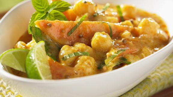 Rezept: Fruchtiges Curry mit Jakobsmuscheln