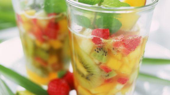 Rezept: Früchtebowle