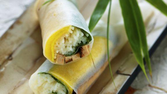 Rezept: Frühlingsrollen auf vietnamesische Art mit Tofu und Mango