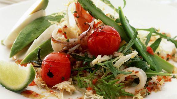 Rezept: Frutti di Mare Salat mit Gemüse