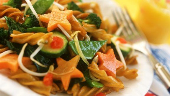 Rezept: Fusilli mit Gemüse