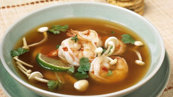 Rezept: Garnelen-Enoki-Suppe