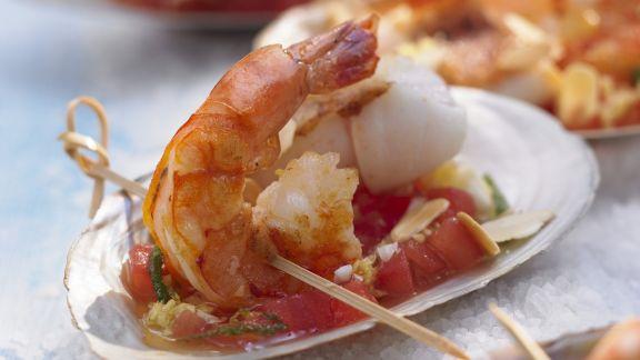 Rezept: Garnelen mit Tomaten-Dip