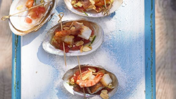 Rezept: Garnelenschwänze mit Ingwer-Tomaten-Salsa