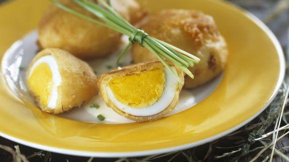 Rezept: Gebackene Eier mit Schnittlauch