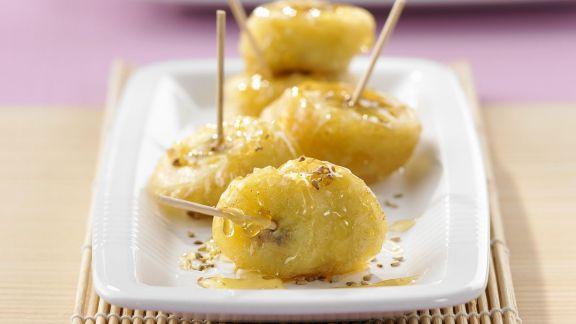Rezept: Gebackene Honig-Bananen mit Sesam