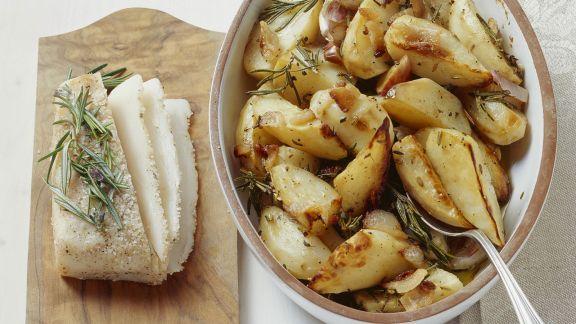 Rezept: gebackene Kartoffeln mit Speck