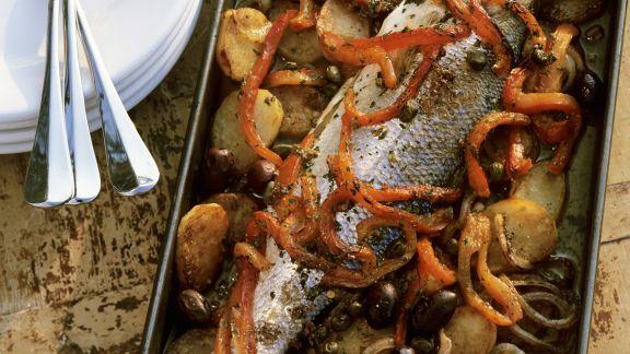 Rezept: Gebackener Fisch auf italienische Art