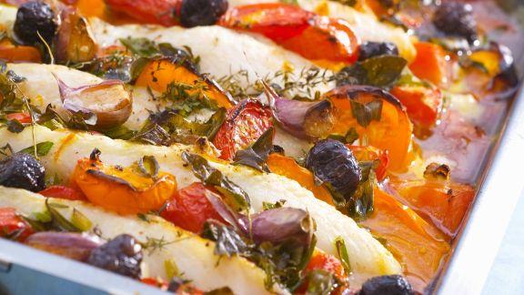 Rezept: Gebackener Fisch mit Gemüse
