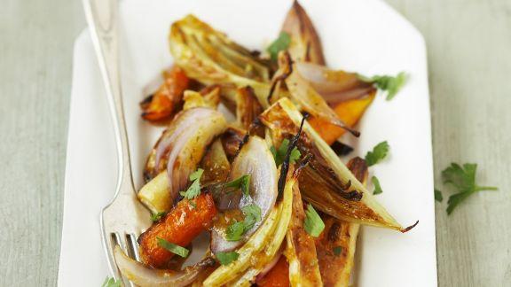 Rezept: Gebackenes Gemüse mit Zimtaroma