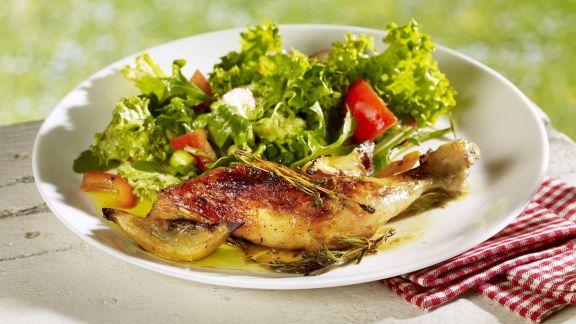 Rezept: Gebratene Hähnchenkeule