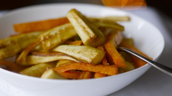 Rezept: Gebratene Karotten und Pastinaken