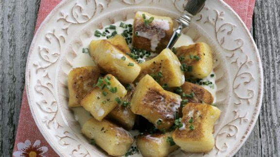Rezept: Gebratene Kartoffelnockerl
