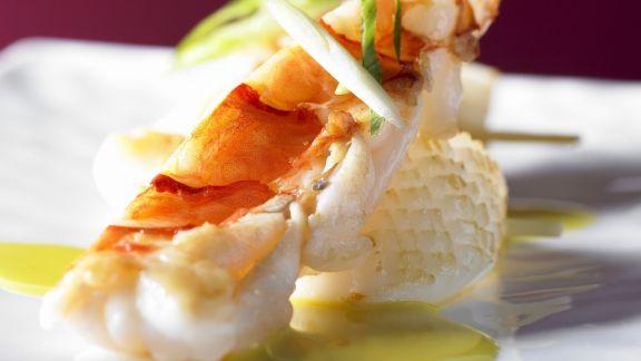 Rezept: Gebratene Meeresfrüchte mit Currysauce