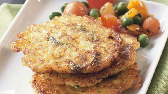 Rezept: Gebratene Reisküchlein mit Gemüse