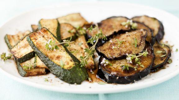Rezept: Gebratene Zucchini- und Auberginenscheiben