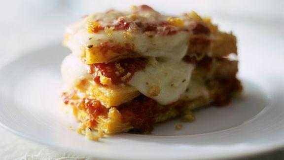 Rezept: Gebratener Kürbis mit Mozzarella