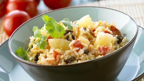 Rezept: Gebratener Reis mit Ananas und Ei