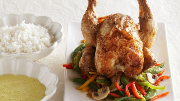 Rezept: Gebratenes Hähnchen mit Gemüse