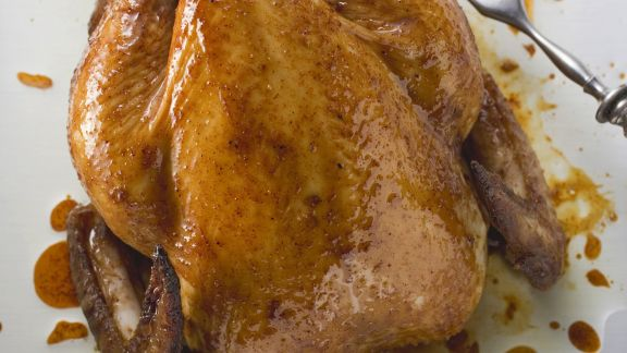 Rezept: Gebratenes Hähnchen mit Kräutern
