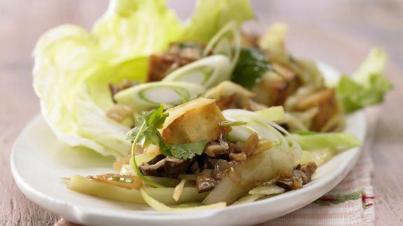 Rezept: Gebratenes Tofu-Pilz-Gemüse