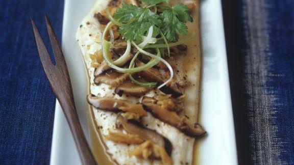 Rezept: Gedämpftes Fischfilet mit Shiitake