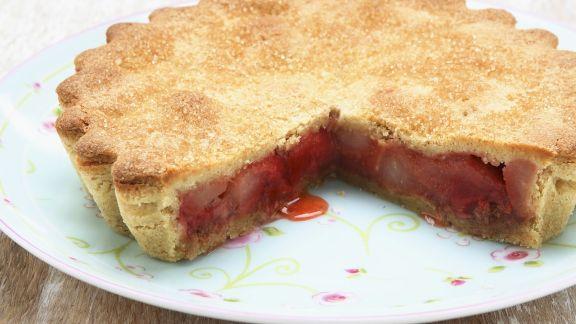 Rezept: Gedeckter Rhabarberkuchen