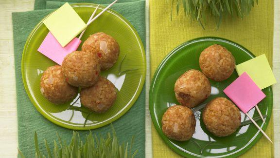 Rezept: Geflügel-Bulgur-Bällchen Kicker