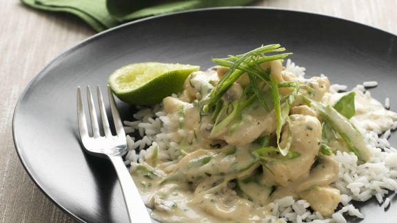 Rezept: Geflügelfrikassee mit Reis