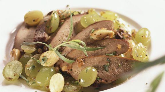 Rezept: Geflügelleber in Traubensauce