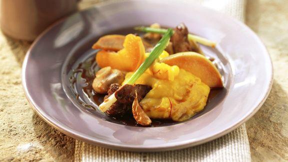 Rezept: Geflügelleber mit Kartoffelpüree