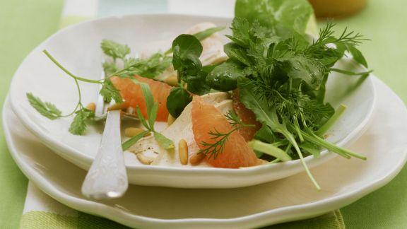 Rezept: Geflügelsalat mit Kräutern