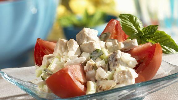 Rezept: Geflügelsalat mit Tomate