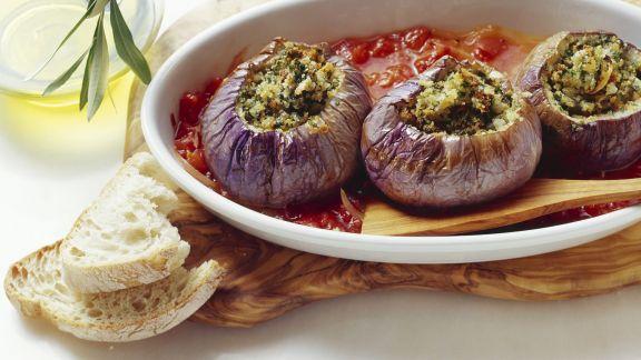 Rezept: Gefüllte Auberginen auf sizilianische Art