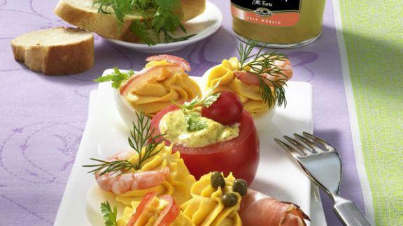 Rezept: Gefüllte Dijon-Senfeier