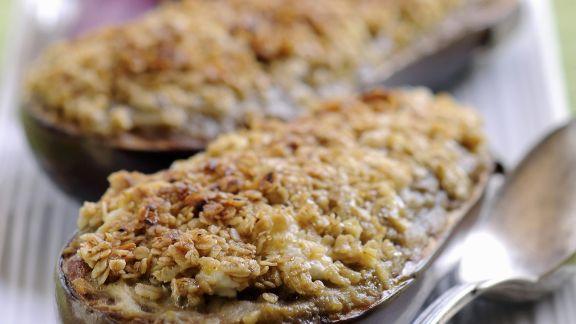 Rezept: Gefüllte gratinierte Auberginen