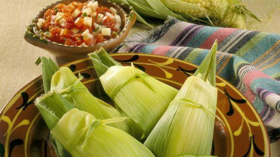 Rezept: Gefüllte Maisblätter mit Limette (Tamales)