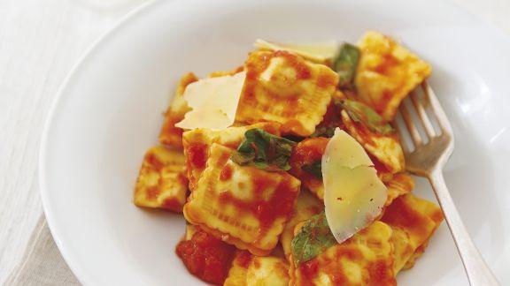 Rezept: Gefüllte Pasta mit Spinat und Ricotta