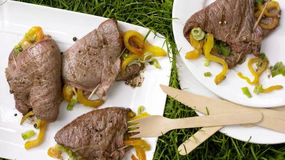 Rezept: Gefüllte Rindfleischtaschen