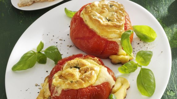 Rezept: Gefüllte Tomaten mit Mascarponesouffle
