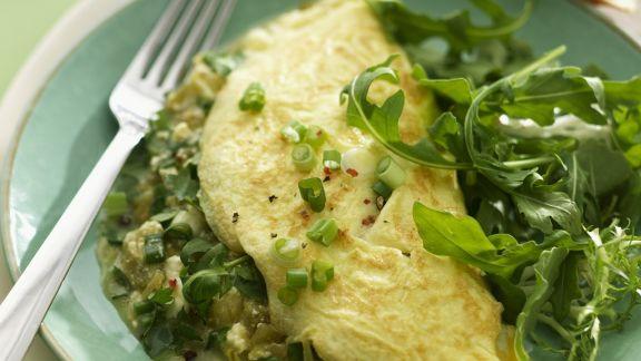 Rezept: Gefülltes Omelett mit grünen Chili