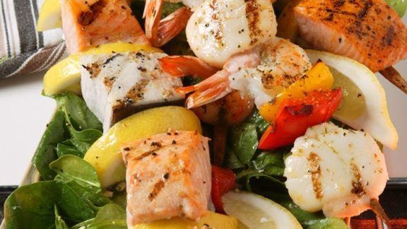 Rezept: Gegrillte Fischspieße