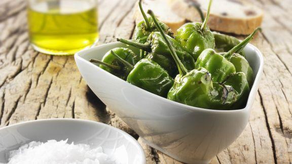 Rezept: Gegrillte grüne Paprikaschoten