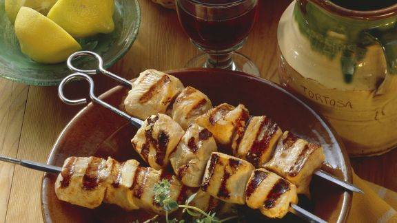 Rezept: Gegrillte Hähnchenspieße mit pikanter Marinade