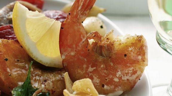 Rezept: Gegrillte Shrimps mit Knoblauchmayonnaise