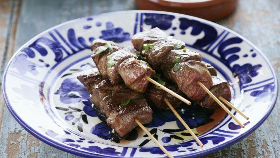 Rezept: Gegrillte Spieße vom Lamm