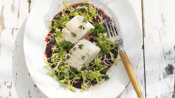 Rezept: Gegrillter Kabeljau mit Rote-Bete-Salat