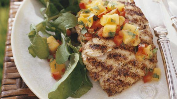 Rezept: Gegrilltes Fischfilet mit Mangosalsa