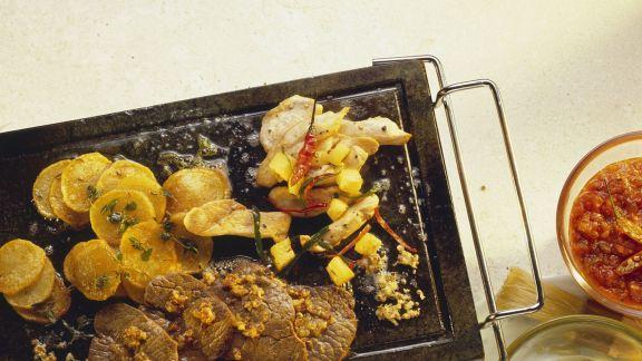 Rezept: Gegrilltes Fleisch und Gemüse